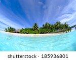 blue sky and blue ocean in... | Shutterstock . vector #185936801