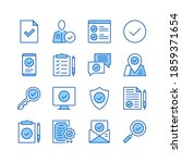 check mark line icons. simple... | Shutterstock .eps vector #1859371654