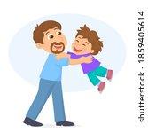 man holding his little son in... | Shutterstock .eps vector #1859405614