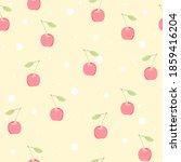 cherry and balls seamless... | Shutterstock .eps vector #1859416204