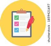 checklist vector flat colour...