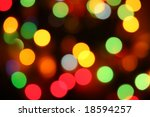 Abstract holiday lights - stock photo