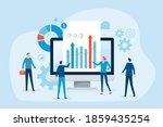 business people team analytics... | Shutterstock .eps vector #1859435254