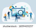 business people team analytics... | Shutterstock .eps vector #1859435257
