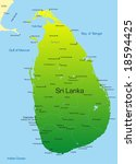 vector map of sri lanka country | Shutterstock .eps vector #18594425