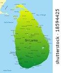 vector map of sri lanka country   Shutterstock .eps vector #18594425