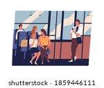 people in public transport. men ... | Shutterstock .eps vector #1859446111
