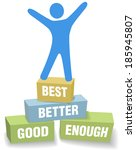 do your personal best and... | Shutterstock .eps vector #185945807