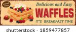 vintage waffles with fruit...   Shutterstock .eps vector #1859477857