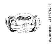 hand drawn sketch of hands... | Shutterstock .eps vector #1859478244