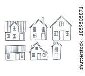 set of old european houses... | Shutterstock .eps vector #1859505871