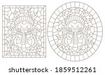 set of contour illustrations of ... | Shutterstock .eps vector #1859512261