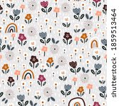 seamless pattern with floral...   Shutterstock .eps vector #1859513464
