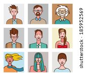 a collection of nine avatar set ... | Shutterstock .eps vector #185952569