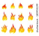 fire icon | Shutterstock .eps vector #185953199