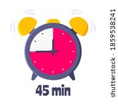 forty five minutes on analog... | Shutterstock .eps vector #1859538241