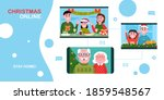 christmas online. people using... | Shutterstock .eps vector #1859548567