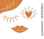 boho love symbol. cute bohemian ... | Shutterstock . vector #1859553811