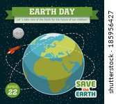 earth day holiday poster in... | Shutterstock .eps vector #185956427