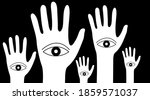 forest of hands with eyes. ... | Shutterstock .eps vector #1859571037