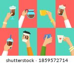 human hands holding cups with... | Shutterstock .eps vector #1859572714