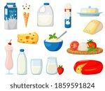 milk food cartoon. dairy milk... | Shutterstock . vector #1859591824