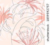 abstract tropical foliage... | Shutterstock .eps vector #1859592757