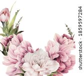 greeting card with flowers  can ... | Shutterstock . vector #1859597284