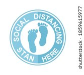 social distancing circle  sign...   Shutterstock .eps vector #1859615977