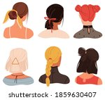 female stylish hairstyles and... | Shutterstock .eps vector #1859630407