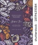 hand sketched herbal tea... | Shutterstock .eps vector #1859635084