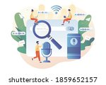 voice search  controlled ... | Shutterstock .eps vector #1859652157