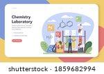 chemistry studying web banner...   Shutterstock .eps vector #1859682994