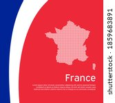 Abstract Waving France Flag And ...