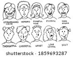 faces expressions with feelings ... | Shutterstock .eps vector #1859693287