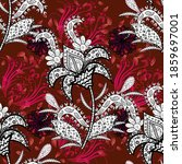 watercolour floral pattern ... | Shutterstock . vector #1859697001