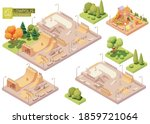 vector isometric playground and ... | Shutterstock .eps vector #1859721064