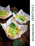 small pie with spinach and... | Shutterstock . vector #185972411