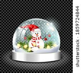 realistic transparent snow... | Shutterstock .eps vector #1859724844