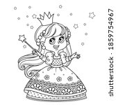 cute princess with a magic wand ... | Shutterstock .eps vector #1859754967