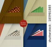 pocket squares   | Shutterstock .eps vector #185981885