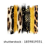 Black And Gold Brush  Strokes ...
