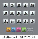 avatar icons    satinbox series ... | Shutterstock .eps vector #1859874124