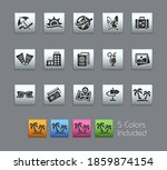 summer vacations icons   ... | Shutterstock .eps vector #1859874154