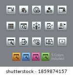 seo and digital martketing... | Shutterstock .eps vector #1859874157