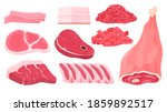 different types of meat. veal ... | Shutterstock .eps vector #1859892517