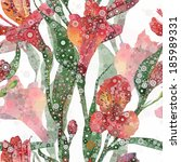 abstract floral pattern. vector ... | Shutterstock .eps vector #185989331