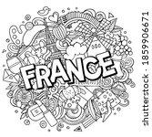 France Hand Drawn Cartoon...