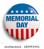 memorial day text icon design. | Shutterstock . vector #185991941