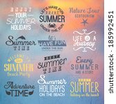 sunset background with labels... | Shutterstock .eps vector #185992451